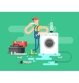Repair of washing machines vector image vector image