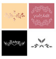Retro vintage insignias or logotypes set with