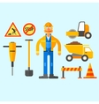 Road Repair Work vector image