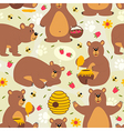 seamless pattern brown bear vector image vector image