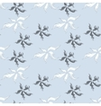 Seamless pattern with fuzzy feathers vector image