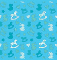 seamless pattern with toys - horse rabbit duck vector image vector image