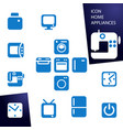 set icons home appliances vector image vector image