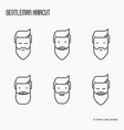 set icons with bearded men vector image