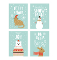 set of christms cards vector image vector image