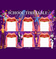 shapito circus education timetable schedule vector image vector image