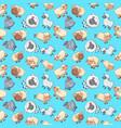 sheep pattern seamless cartoon style vector image vector image