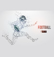silhouette of a football player vector image vector image