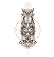 totem eagle wolf fox and owl for creating vector image vector image
