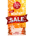 vertical sale roll up on background winter vector image vector image