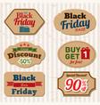 vintage labels for black friday sale vector image
