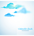 Watercolor clouds background with glass banner vector image vector image