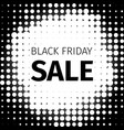 black friday sale retro banner in halftone style vector image
