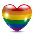 Heart shaped gay symbol vector image