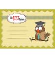 Owl Teacher in format vector image