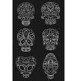 sugar skulls vector image