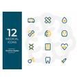 12 medical icons medical symbol modern outline vector image vector image
