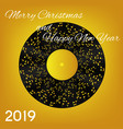 2019 happy new year and merry christmas on vector image