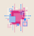 abstract geometrical background with template vector image