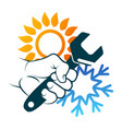 air conditioning repair and maintenance vector image vector image