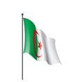 algeria flag vector image vector image