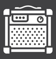amplifier glyph icon music and instrument vector image vector image