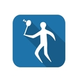 Athlete icon flat silhouette vector image vector image