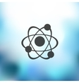 atom icon on blurred background vector image
