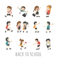 Back to school pupils in school uniform eps10 vector image
