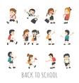 Back to school pupils in school uniform eps10 vector image vector image