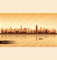 bangkok city skyline silhouette background vector image vector image