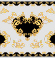 Baroque decorative element seamless pattern