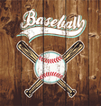 baseball wooden board vector image vector image