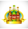 Beer Bottle with Barley vector image vector image