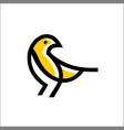 bird logo icon line outline monoline vector image vector image