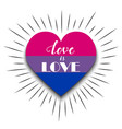 Bisexual heart on white background