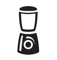black blender icon on white background vector image