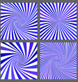 Blue spiral and ray burst background set vector image vector image