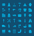 building construction solid web icons vector image vector image