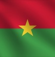 Burkina Faso flag vector image