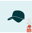 Cap icon isolated vector image vector image