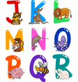 Cartoon Colorful Alphabet with Animals