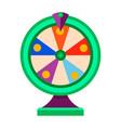 cartoon wheel fortune lottery design element vector image vector image