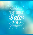 christmas sale 2019 poster vector image