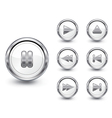 chrome buttons set vector image vector image