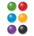 color balls vector image