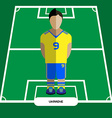Computer game Ukraine Football club player vector image vector image