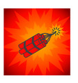 concept of dynamite on white vector image