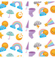 cute and fantasy background vector image
