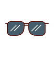 cute grey sunglasses cartoon vector image